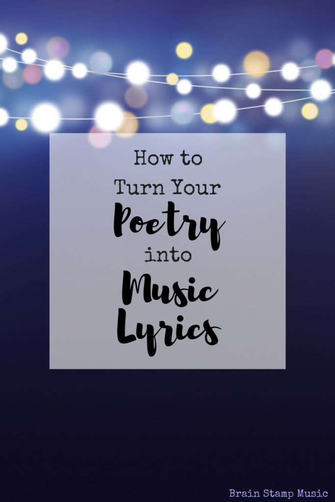 An easy way for poets to write lyrics!