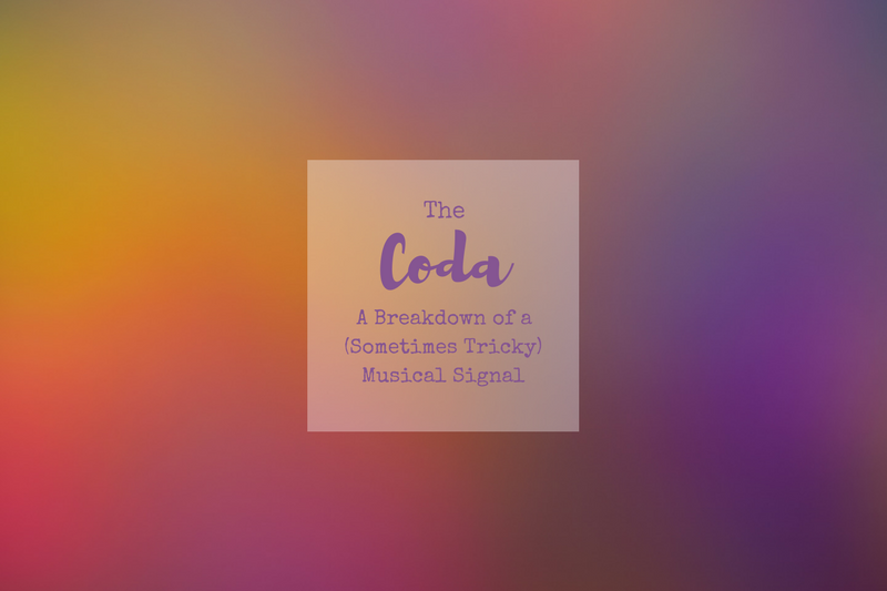 What is a coda in sheet music?