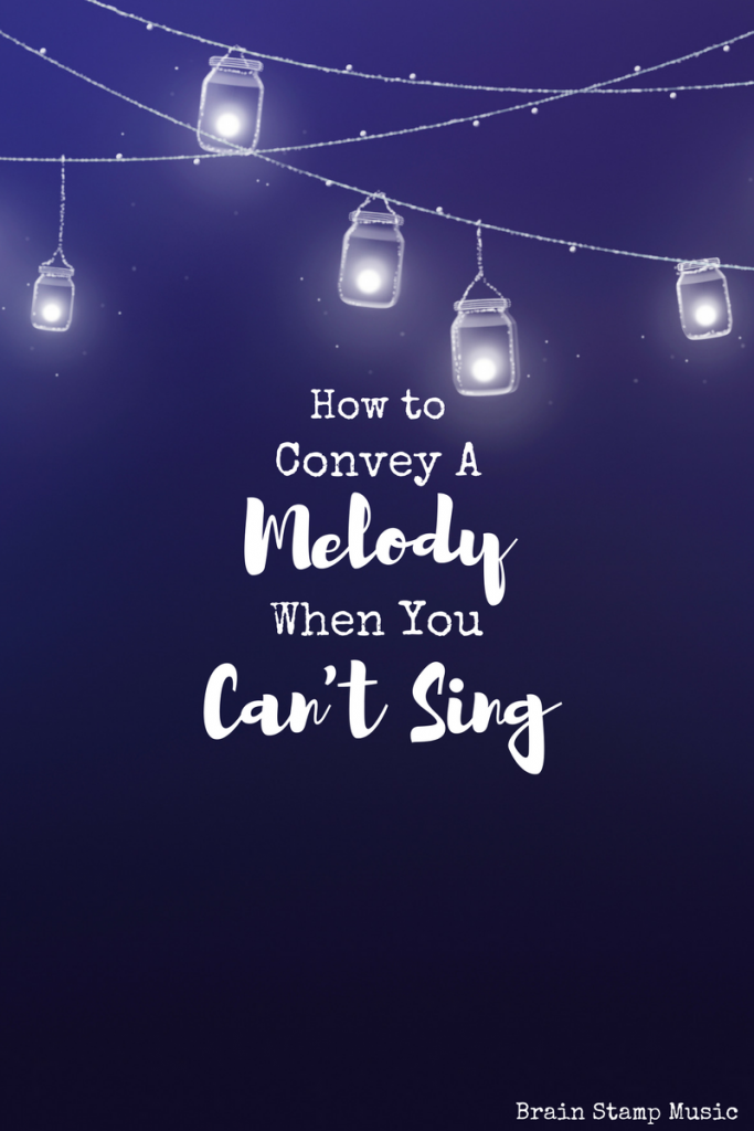 Are you a songwriter who can't sing? Here's how to show people your intended melody!