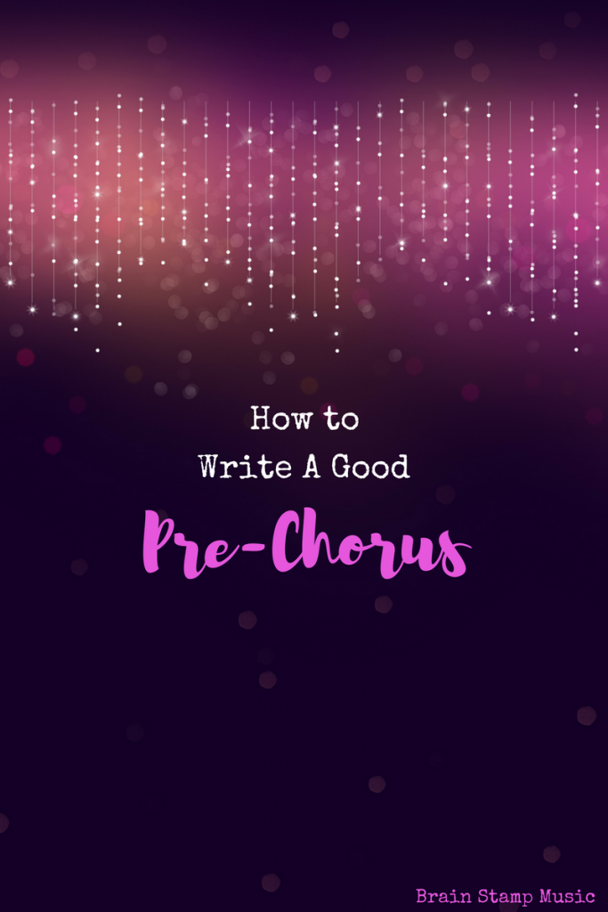 How to write a great prechorus to set your chorus up for success!