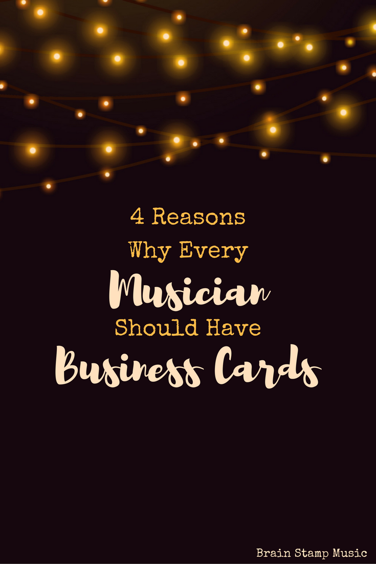Why musicians and creative professionals need business cards!