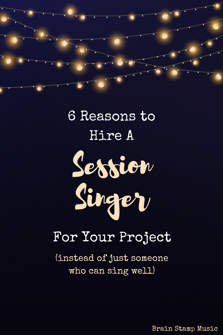 What's the difference between a great singer and a professional session singer? Find out here!