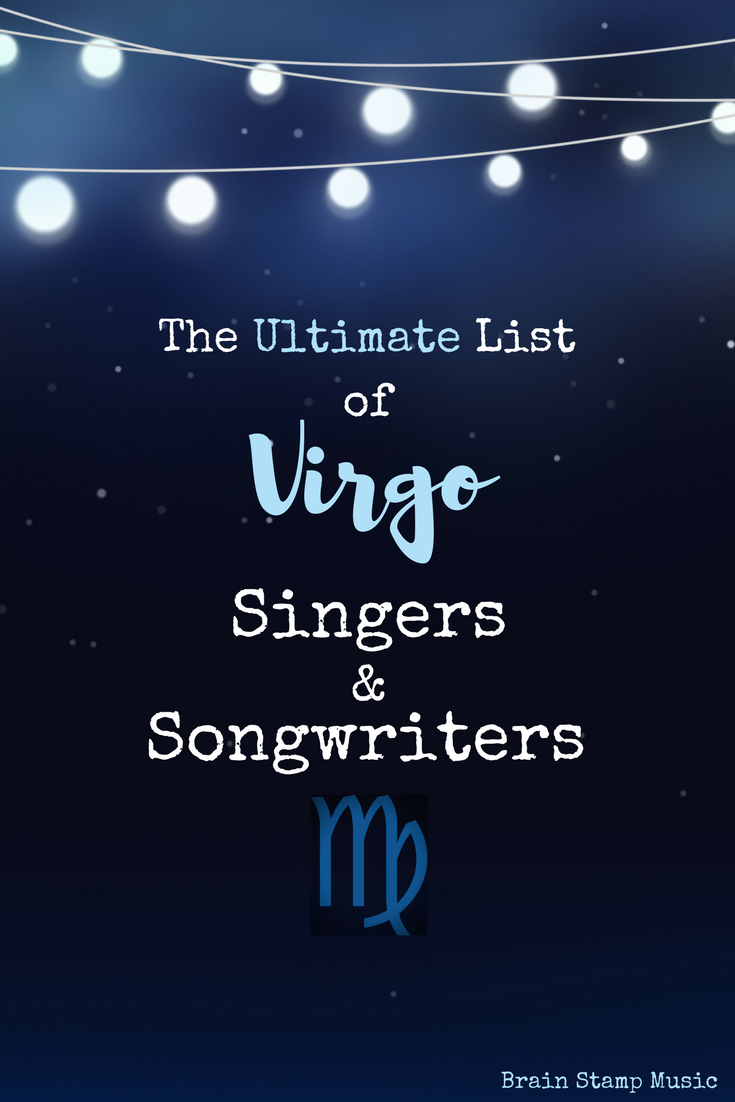 A long list of Virgo singers and songwriters listed by day