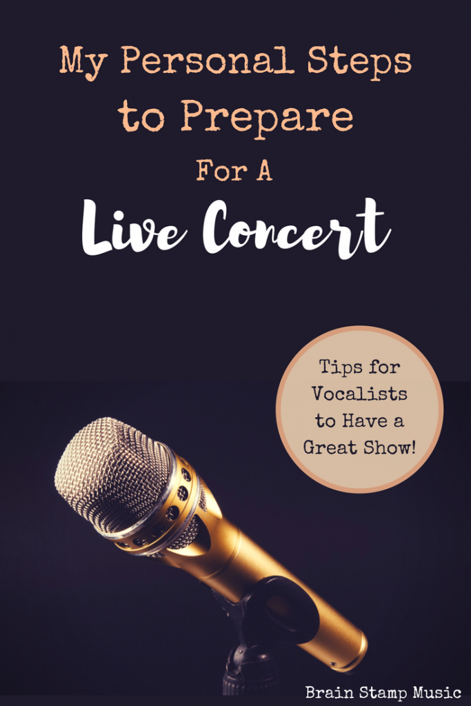 How I Prepare for a Live Gig as a Session Singer