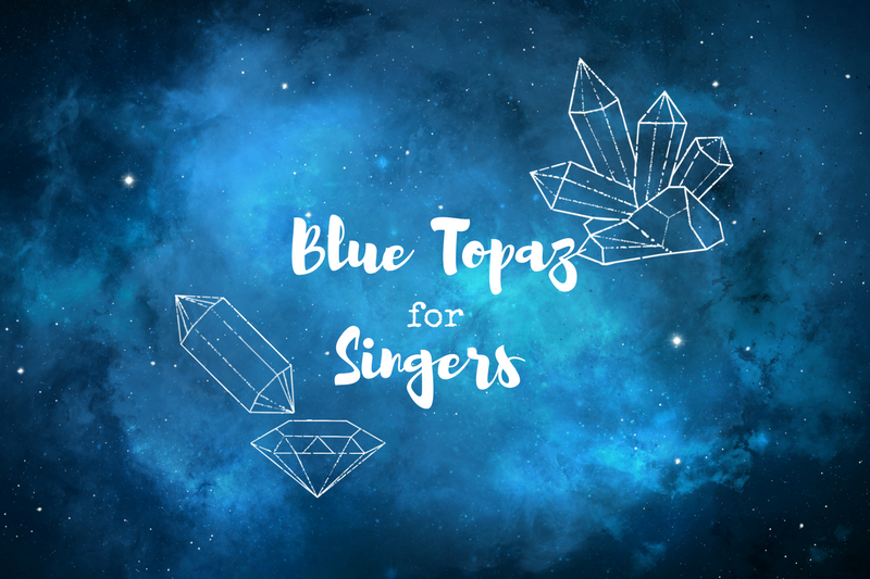 Does crystal therapy help vocalists? I tried it with Blue Topaz to find out!