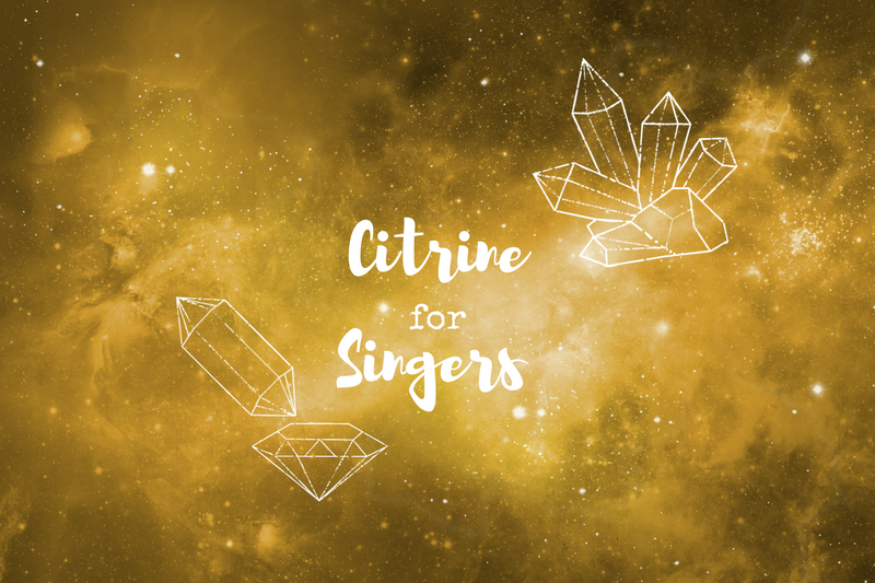 I tried working with Citrine to see if it would help me improve my singing