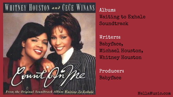 Whitney Houston Songs Ranked in Order - Count on Me with Cece Winans