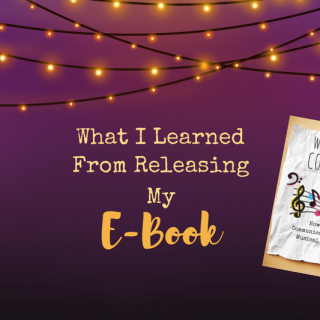6 Things I Learned After Releasing My First E-Book