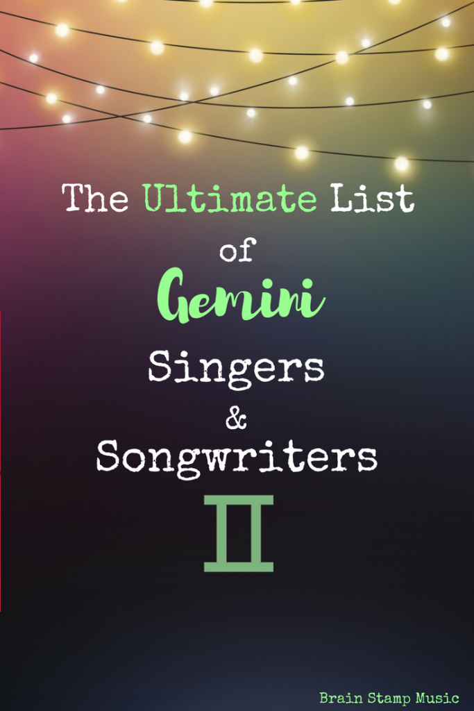An Epic List of Gemini Singers, Songwriters, Rappers and Composers!