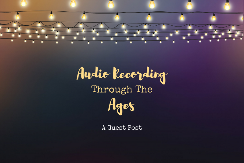 An infographic of the history of audio recording