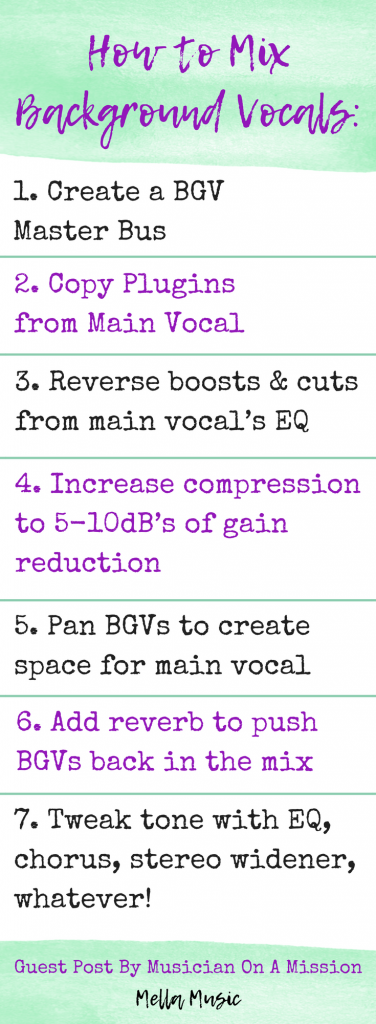 The Step-by-Step Guide to Mixing Background Vocals Like a Pro!