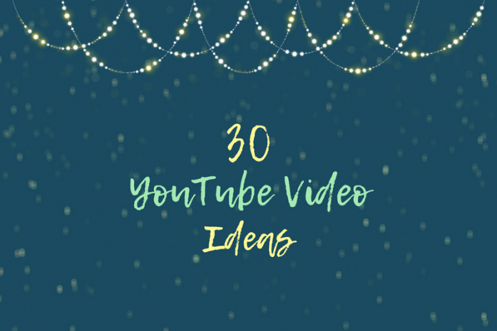 30 Easy YouTube Ideas for Singers, Songwriters and Musicians
