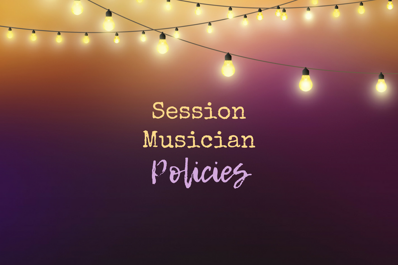 Important policies for session musicians
