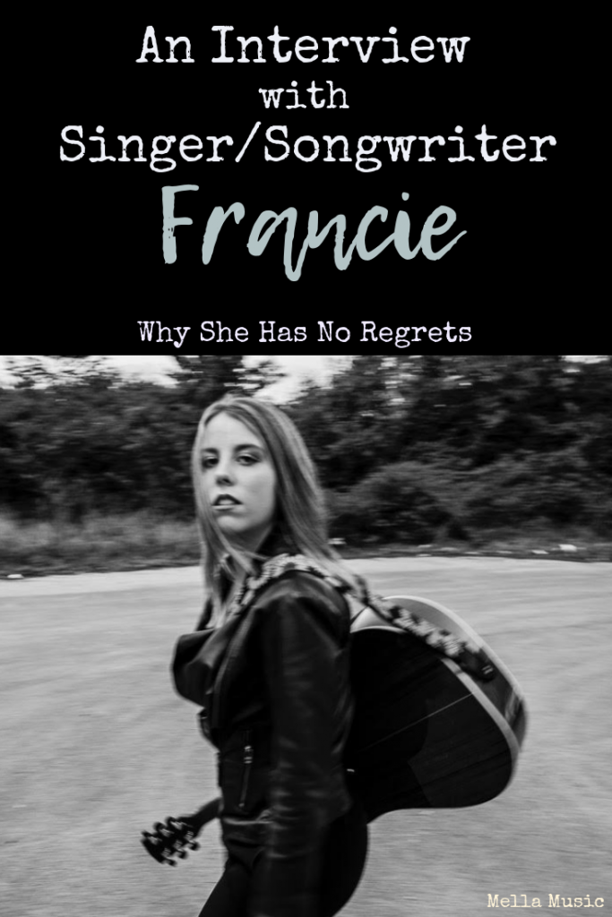 An exclusive interview with #singer and #songwriter Francie. She gives advice for new singers and talks about why regrets are pointless