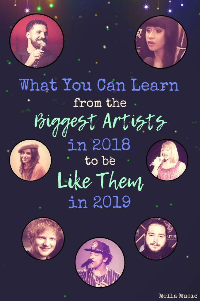 How 2018's Biggest #Music Artists Can Inspire Your Own Music Career! Perfect for Setting Your #Singing and #Songwriting Goals!