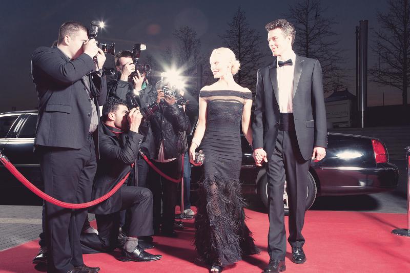 celebrities on red carpet